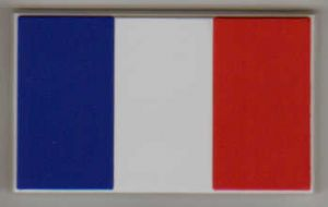 France Country Flag Soft PVC Fridge Magnet.